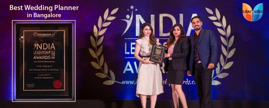 Best wedding planner In bangalore 2018 award by Soha Ali Khan