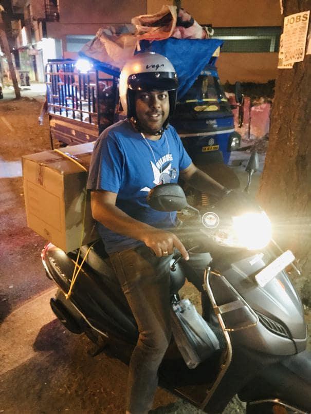 Manoj Mohite At Delivery Location