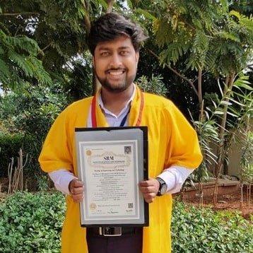 Rishav Agarwal At SRM