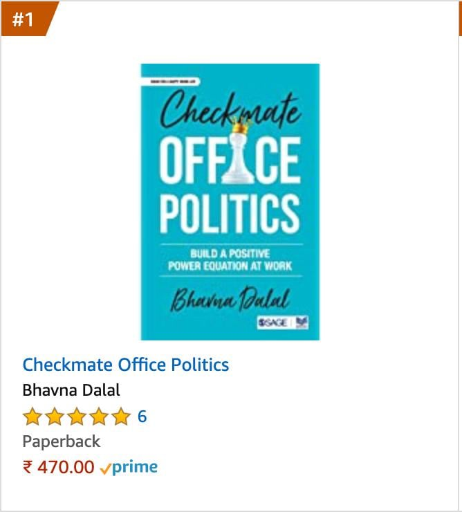 Checkmate Office Politics Writen By Bhavna Dalal
