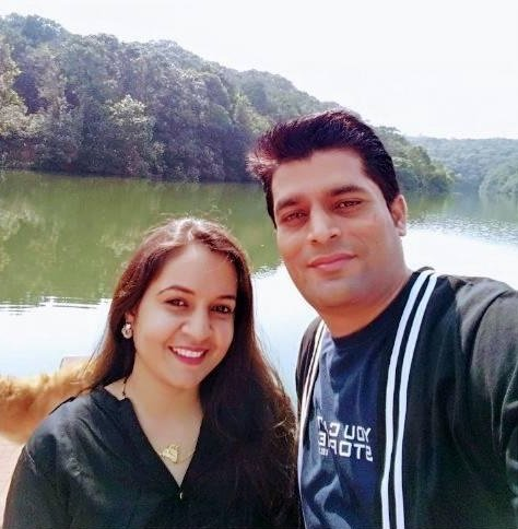 Manish Shukla With His Wife Dr. Priyanka Tiwari (Another Co-Founder)