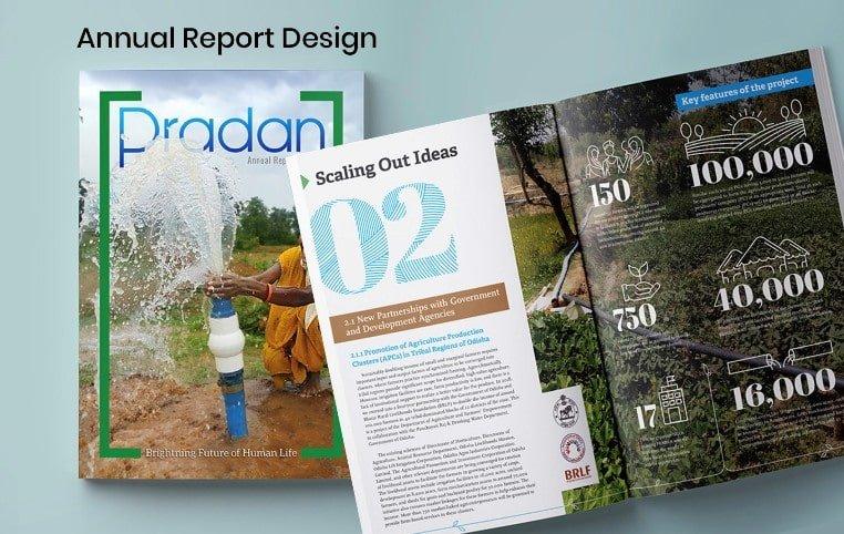 Annual report design work