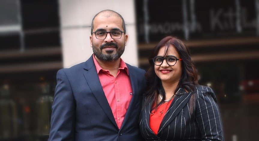 VisualBest founder Santosh Kushwaha with Co-founder Anita Kushwaha